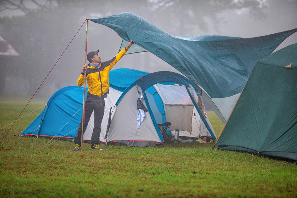 Que faire au camping lorsqu'il pleut ?